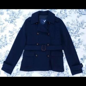American eagle button up dress coat